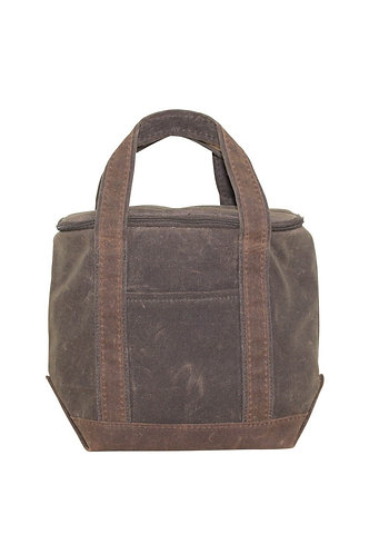 Waxed Canvas Small Lunch Bag
