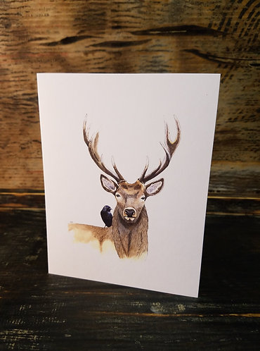 Stag with Crow