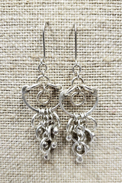 Sterling Horseshoe Design with Balls