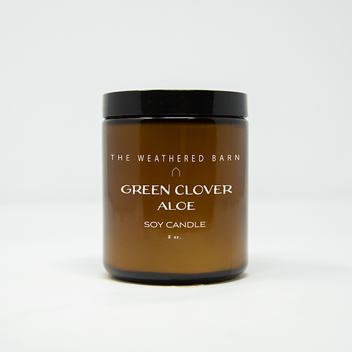 Green Clover & Aloe Hand Poured Soy Candle
