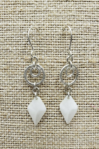 copy of Sterling Earrings with Gar Fish Scales