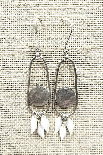 Sterling Earrings with Gar Fish Scales
