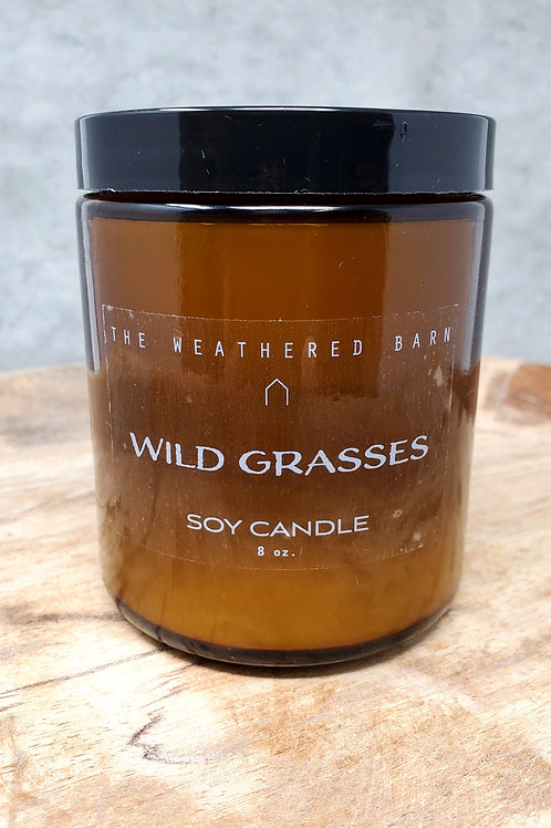 Wild Grasses Hand Poured Soy Candle