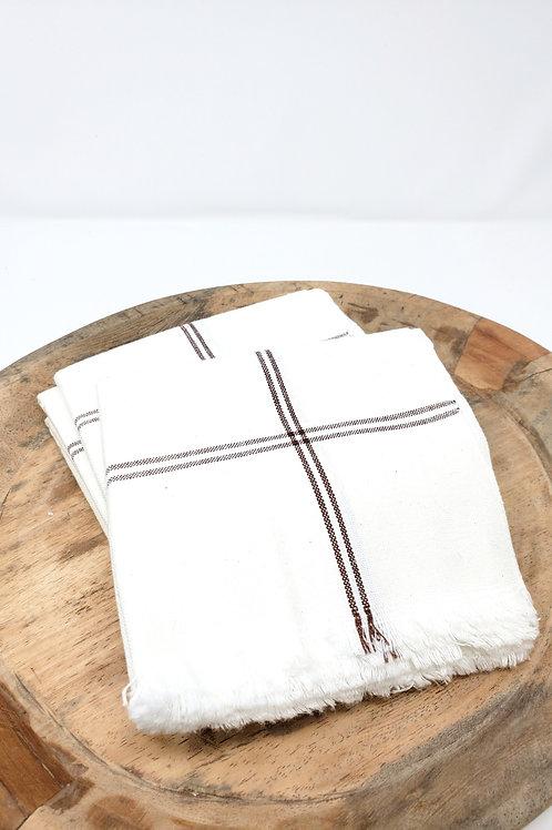 Espresso Stripe Woven Cotton Towel