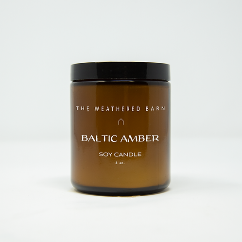Baltic Amber Hand Poured Soy Candle