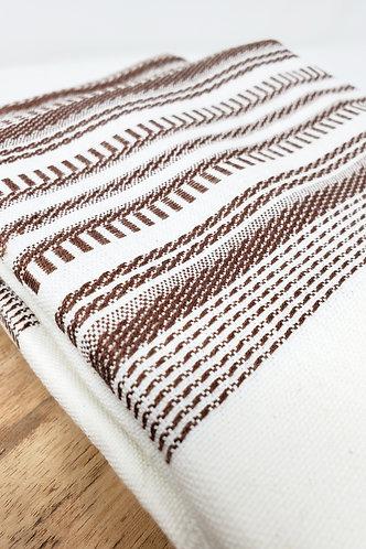 Espresso Woven Cotton Towel