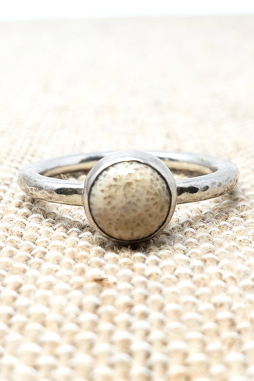 Fossil Coral Ring Collection 1