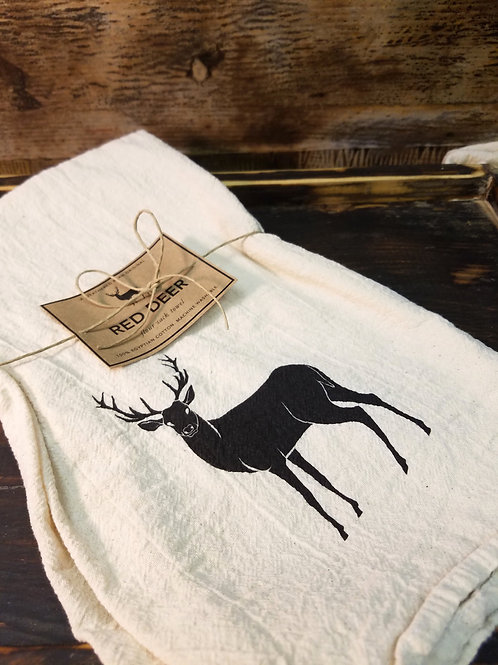 Red Deer Flour Sack Towel