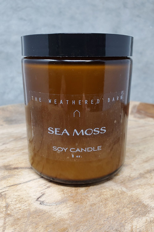 Sea Moss Hand Poured Soy Candle