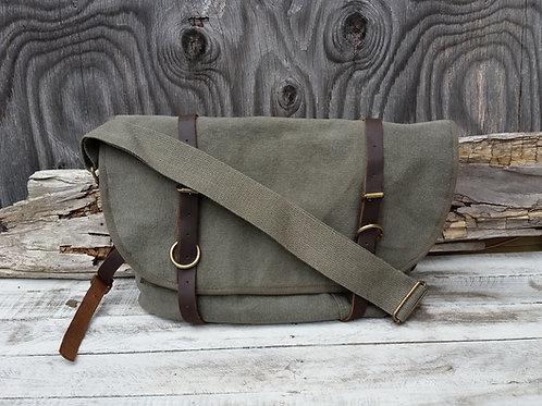 Canvas Postal Bag in Olive Drab