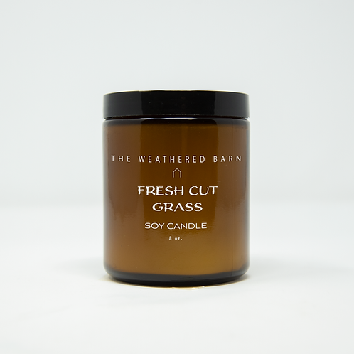 Fresh Cut Grass Hand Poured Soy Candle