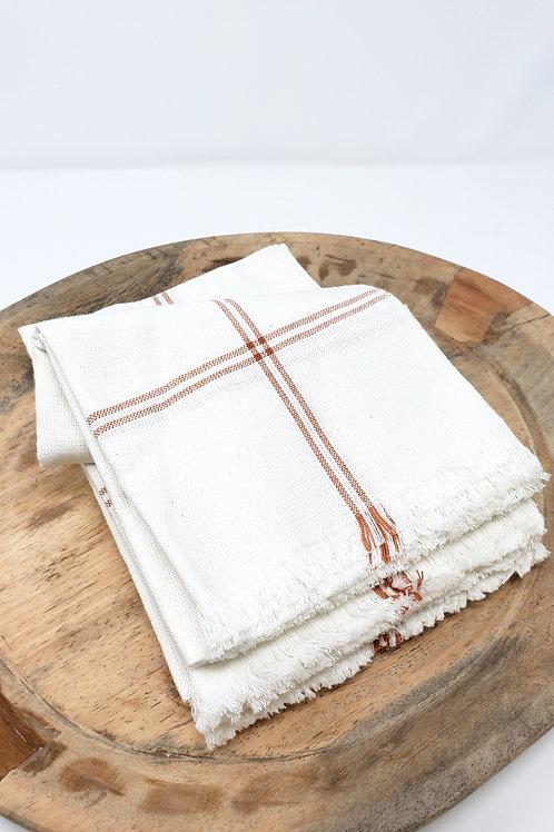 Copper Stripe Woven Cotton Towel