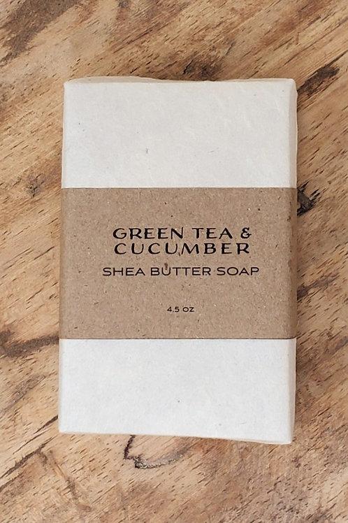 Green Tea & Cucumber Shea Butter Soap