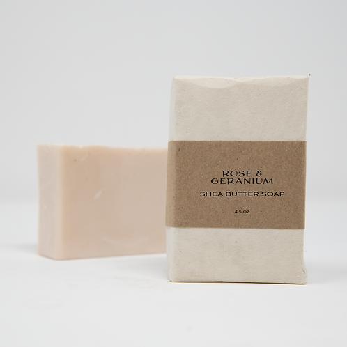 Rose & Geranium Shea Butter Soap