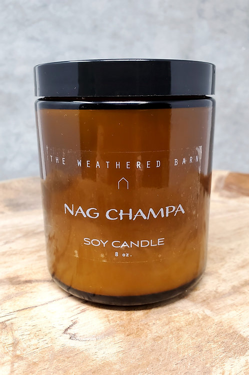 Nag Champa Hand Poured Soy Candle