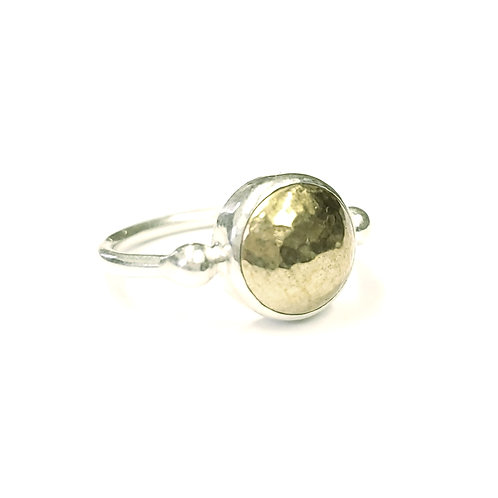 Hammered 2-Tone Dome Ring