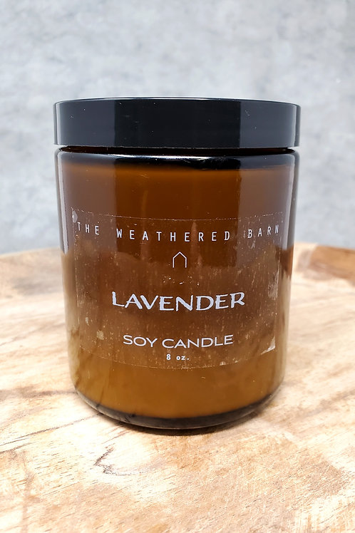 Lavender Hand Poured Soy Candle