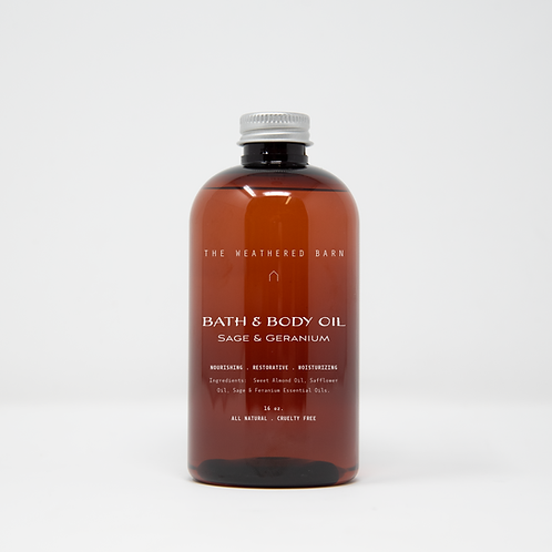Sage & Geranium Bath & Body Oil