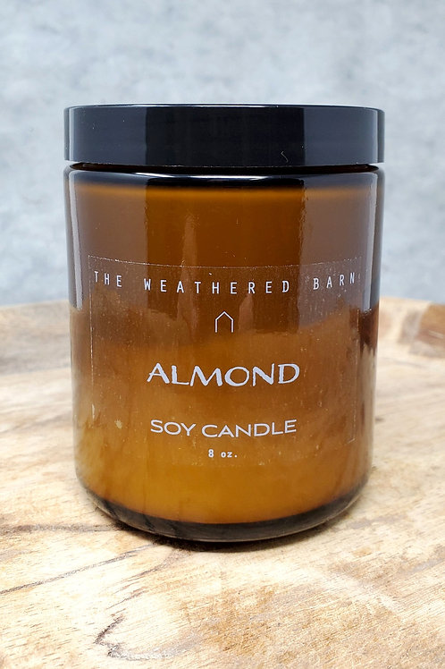 Almond Hand Poured Soy Candle