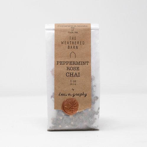 Organic Peppermint Rose Chai Tea {herbal}