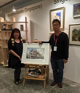 Affordable Art Fair, Singapore, 2015. This was one of my watercolor painting exhibited together with the rest of the members of Singapore Watercolor Society.