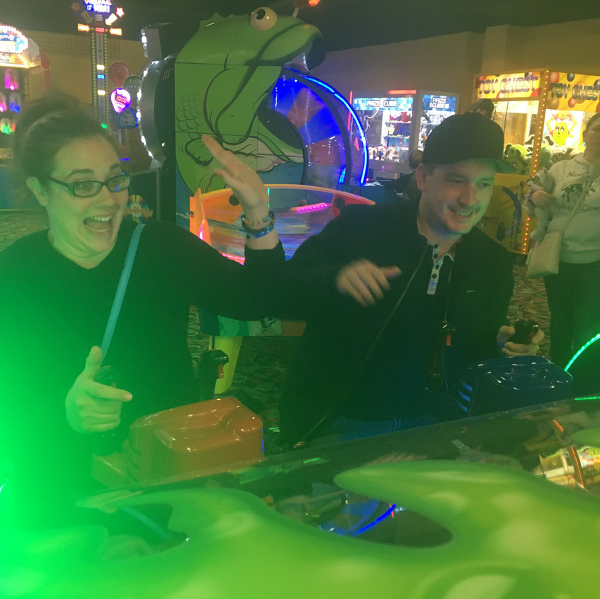 Day after Leno - Playing at the Arcade (Talia & Jacob)