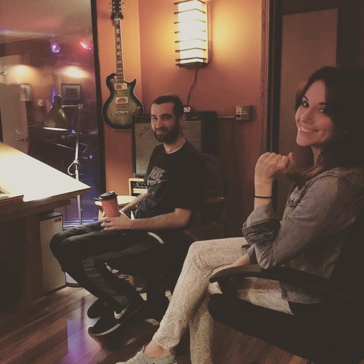 Listening intently at Megatone Studios