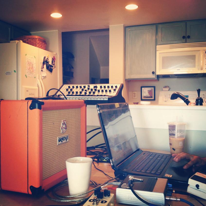 Recording in my Kitchen w/ Drew