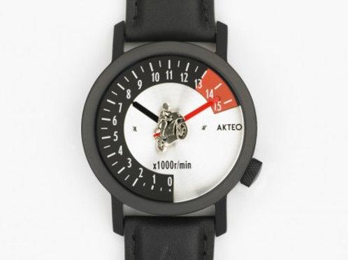 Akteo Armbanduhr - Motorradrennen black