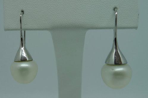 Süßwasser Perlen Ohrhänger, 925/- Silber rhodiniert
