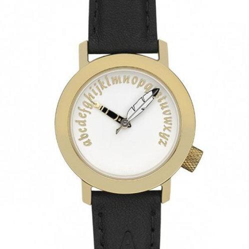 Akteo Damen-Armbanduhr - Schriftstellerin gold