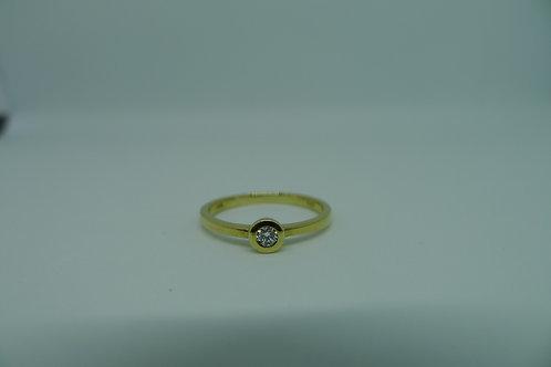 Solitär Diamant Gelbgoldring