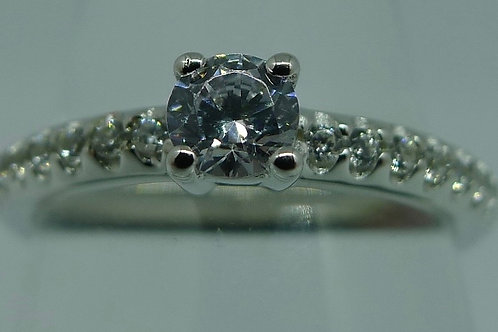 Ring mit Zirkonia, 925/ Silber rhodiniert