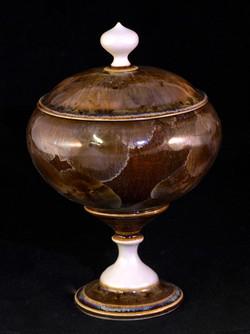 Gold Granite Jar
