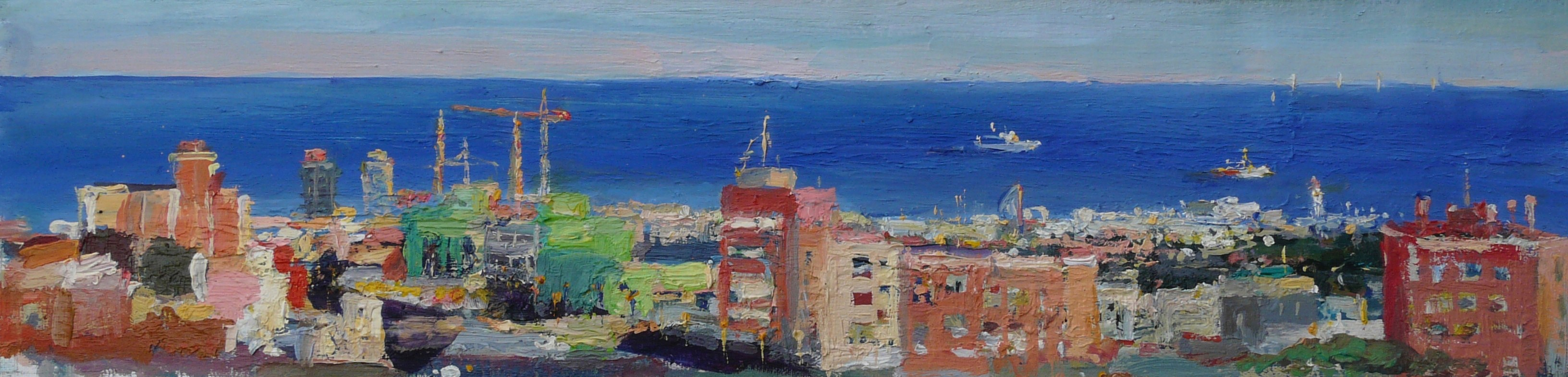 Barcelona from Park Guell 24x6 (1)