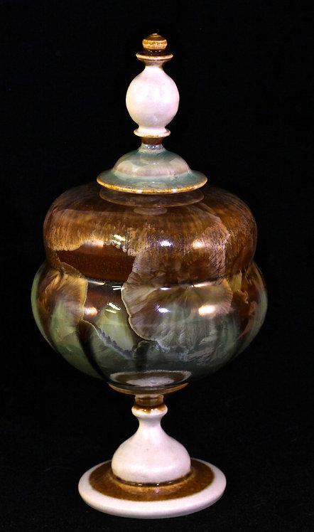 Gold Granite & Copper Lidded Jar