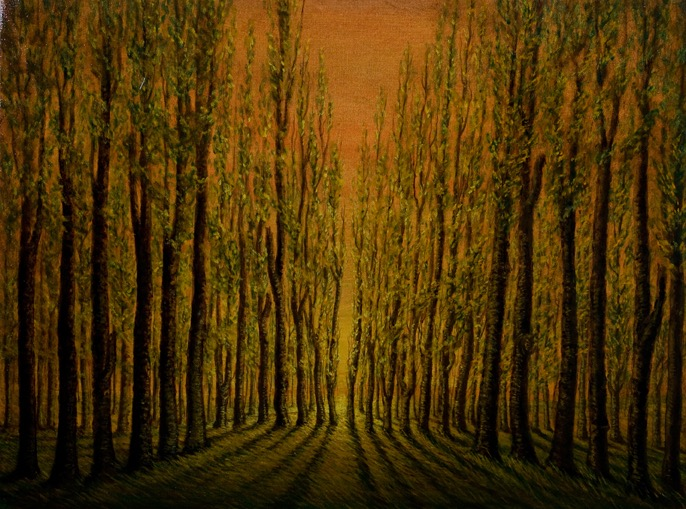 silhouette trees II oil on canvas 30x40LOW RES