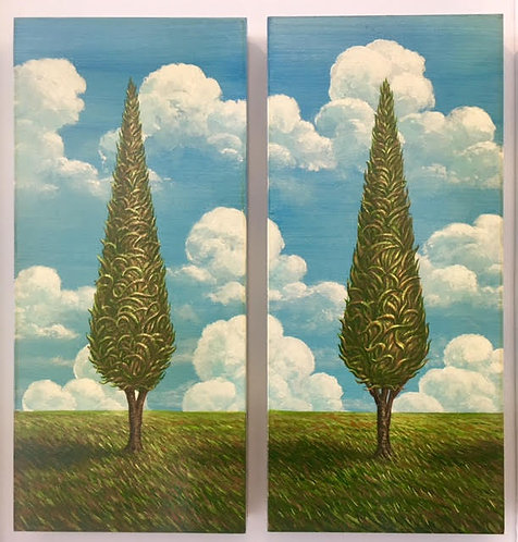 Tree of Life I & II (pair of paintings