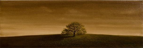 long landscape single oak oil on canvas 36 x 12 low res