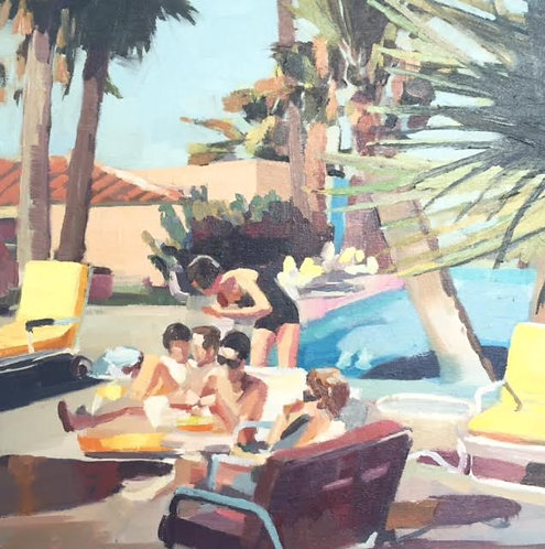 Title: Afternoon at the Poolside 1958