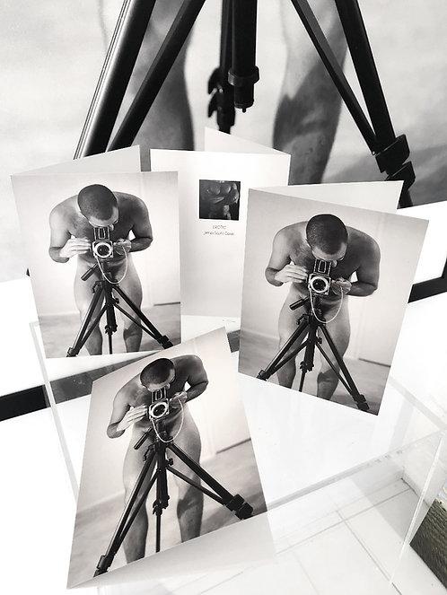 Set of 10 Self Portrait Barnabysdaddy Greeting Cards