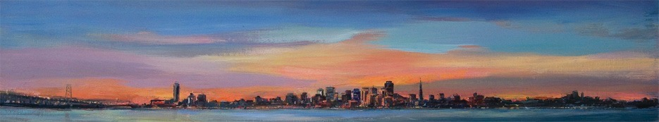 San Francisco II, oil on canvas, 6 x 30