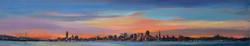 San Francisco II, oil on canvas, 6 x 30