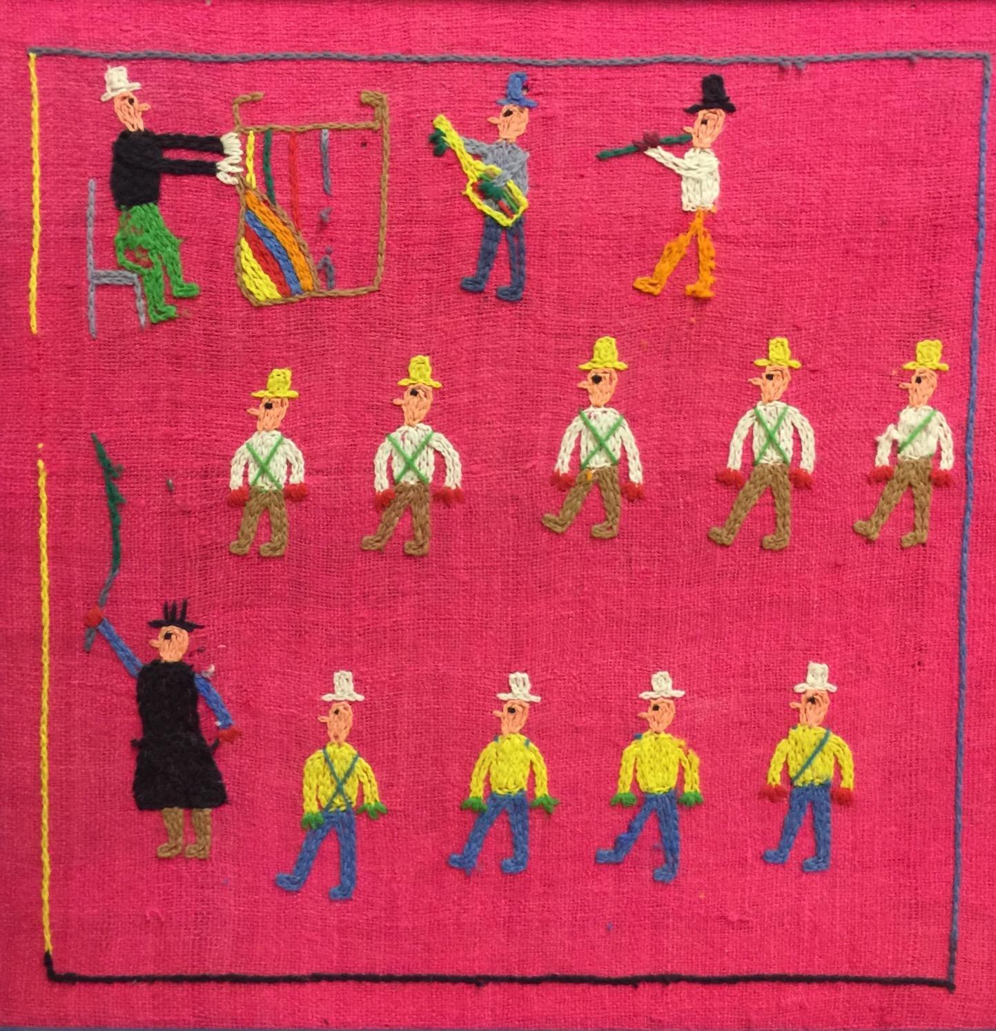 Unique Maine Naive Folk Art Textile