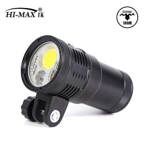 HI-MAX New Model UV10 6000 Lumen Diving Video Light