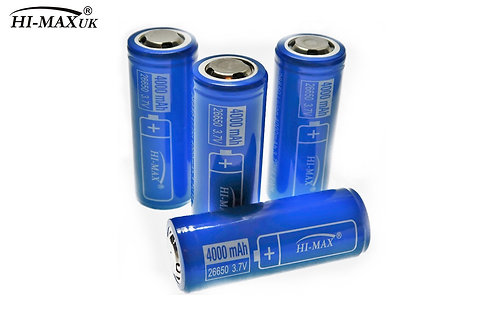 Genuine HI-MAX Rechargeable Battery 26650 4000 MhA battery PCB/PCM