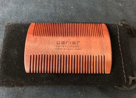 Parker Rosewood Double-sided Beard Comb