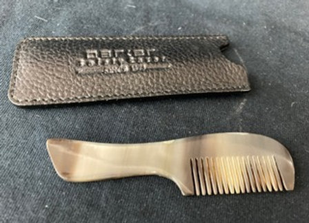Parker Genuine Ox Mustache Comb and Leather Case