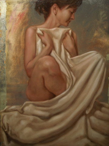 Figure and White Drapery #4