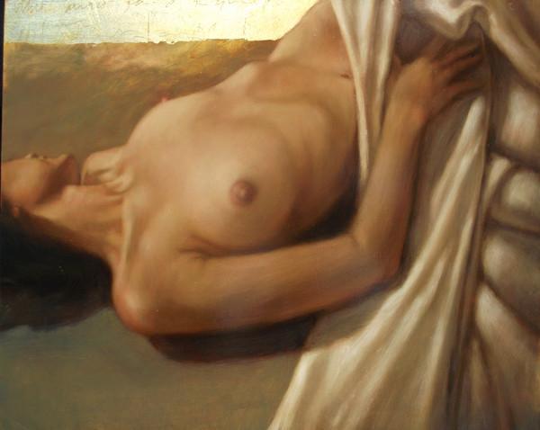 Figure and White Drapery #12